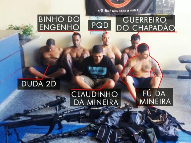 Cúpula do crime no Rio foi presa no Chapadão nesta terça-feira  (Foto: Reprodução/TV Globo)