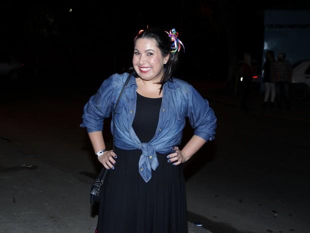 Mariana Xavier em festa na Zona Oeste do Rio (Foto: Marcello Sá Barretto/ Ag. News)