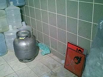 Operação flagra venda irregular de gás de cozinha no Grande Recife (Foto: Katherine Coutinho / G1)