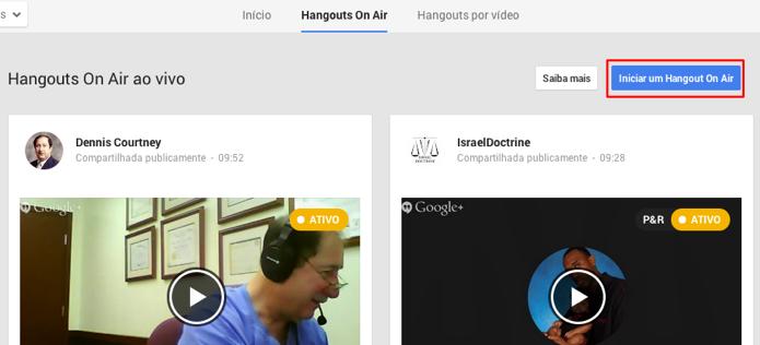 Comece um Hangout próprio (Foto: Reprodução/Paulo Alves)