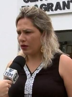Fabiana Campos explica sobre denúncia de estupro sofrido pela menina (Foto: Reprodução/ TV TEM)