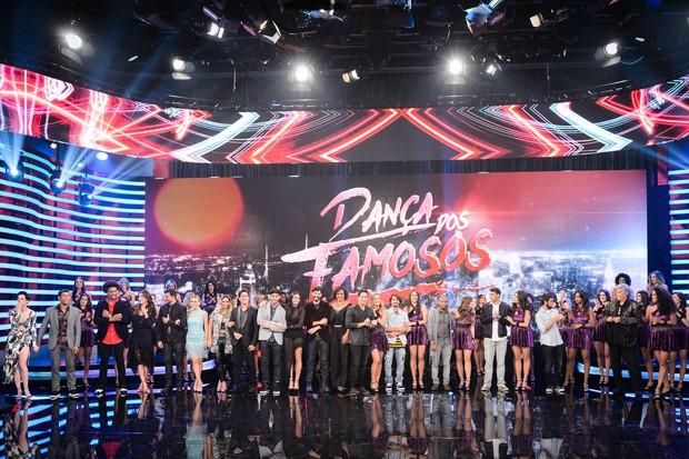 Participantes da Dança dos Famosos (Foto: Ramón Vasconcellos / Globo)