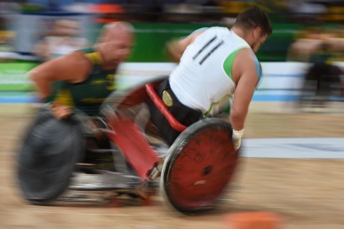 Brasil x Austrália Rugby em cadeira de rodas (Foto: André Durão)
