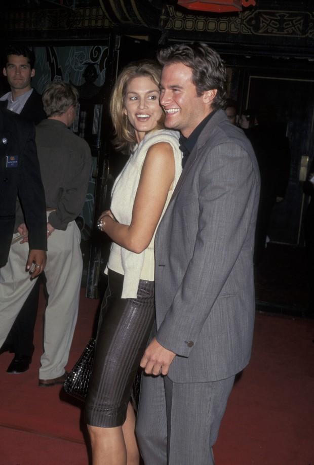 Cindy Crawford já com o atual marido, Rande Gerber, em 1997, em Los Angeles (Foto: Getty Images)