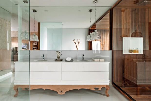 Banheiro idealizado pelo arquiteto Leo Romano (Foto: Edgard Cesar / Divulgação)