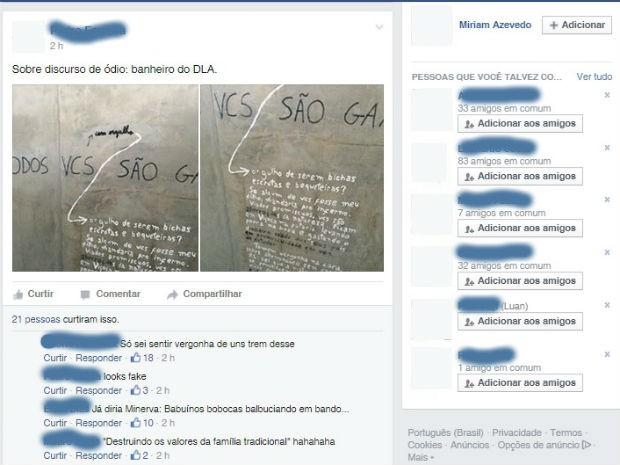 Post em grupo do Facebook (Foto: Reprodução/Facebook)