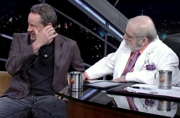 Dan Stulbach se emociona com homenagem de Jô Soares (Foto: TV Globo)