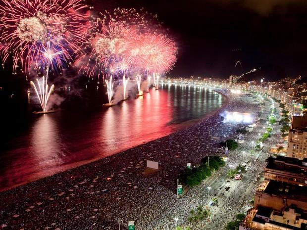 Fogos Copacabana réveillon (Foto: Divulgação / Riotur)
