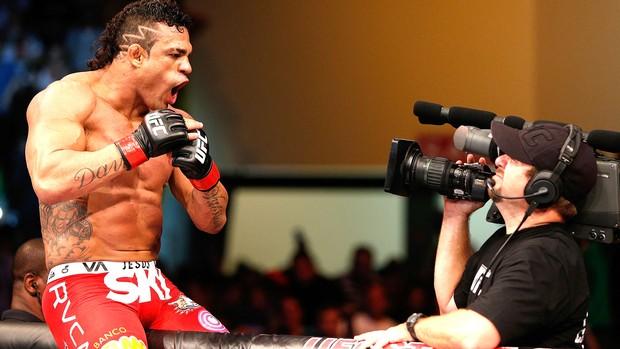 Vitor Belfort comemoração UFC Goiânia (Foto: Getty Images)