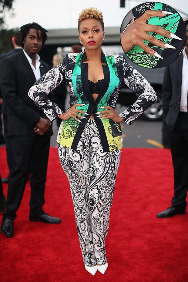 [Grammy - unhas] Chrisette Michele (Foto: AFP / Agência)