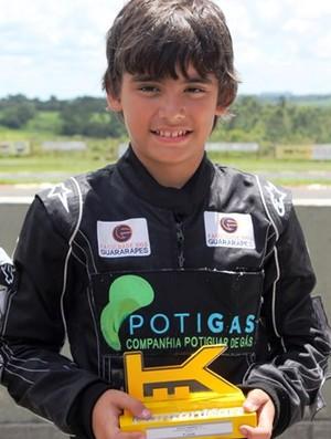 Victor Uchoa, piloto de kart (Foto: Divulgação)