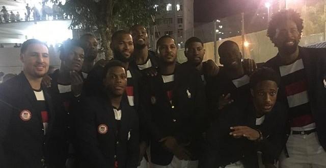 Astros da NBA na cerimônia de abertura no Maracanã (Foto: Instagram)