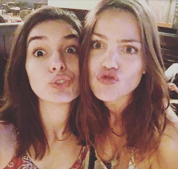 Marina Moschen com Pâmela Tomé em seu aniversário antecipado (Foto: Reprodução/Instagram)