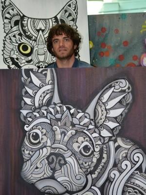 José Flávio Audi também pinta telas em estúdio de Campinas, SP (Foto: Fernando Pacífico / G1 Campinas)