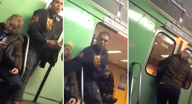 Ladrão aguardou instante em que as portas do trem iam se fechar para tirar celular das mãos da mulher (Foto: Reprodução)