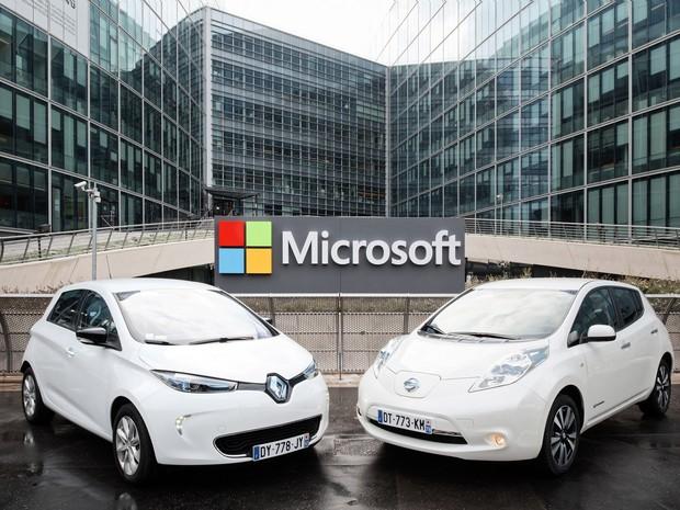 Renault-Nissan e Microsoft formam parceria (Foto: Divulgação)