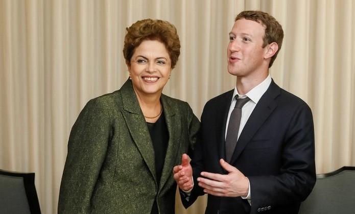 Dilma Rousseff e Mark Zuckerberg fecham acordo para ampliar inclusão digital no Brasil (Reprodução/Facebook)