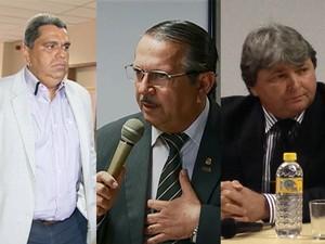 Neto (PMN), Jadiel (PROS) e Val (DEM) são considerados foragidos. (Foto: (Reprodução/TV Asa Branca/ Reprodução/TV Asa Branca/ Jael Soares/G1))