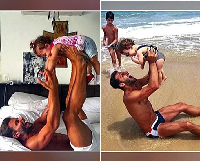 Henri Castelli com os filhos (Foto: Arquivo Pessoal)