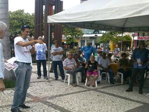 Ato da Cut em Fortaleza em 7 de abril (Foto: GIoras Xerez/G1)
