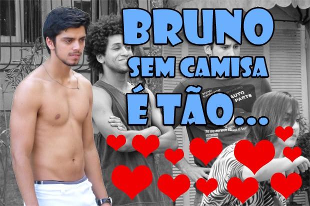 Bruno sem camisa (Foto: Malhação / TV Globo)