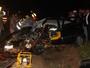 Acidente envolvendo três veículos deixa quatro pessoas feridas
