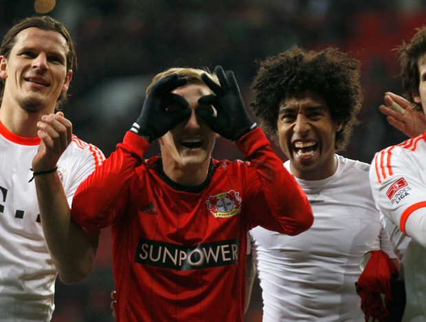 Daniel van Buyten, Schweinsteiger, Dante e Javier Martinez Bayern de Munique (Foto: Reuters)
