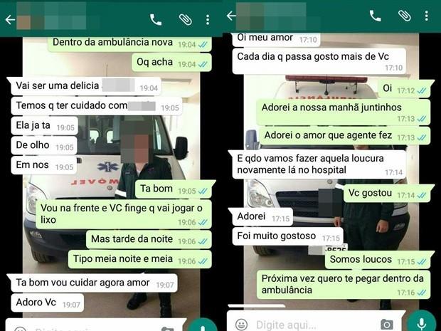 Supostas conversas mostram diálogo sobre relação dentro do hospital em Cajazeiras (Foto: Reprodução)