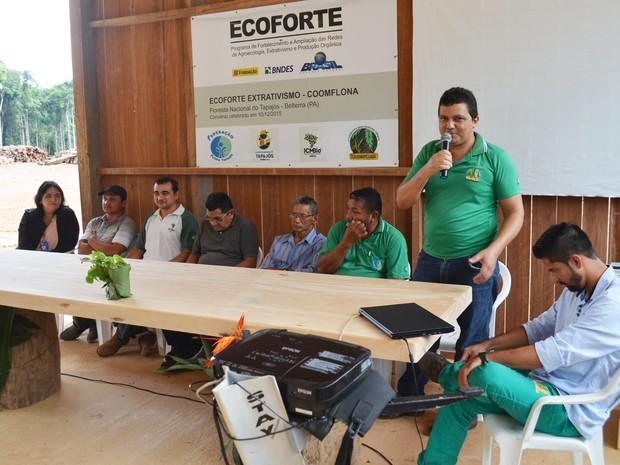 Solenidade de inauguração foi realizada na manhã desta quinta-feira na Flona (Foto: Adonias Silva/G1)