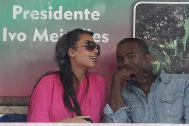 Kim Kardashian e Kanye West (Foto: Marcellos Sá Barreto/ Ag.News)