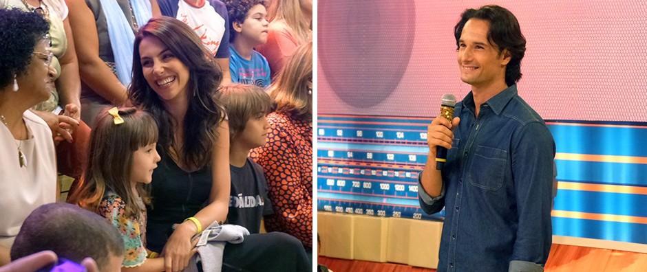 Rodrigo Santoro leva namorada e família para o programa (Esquenta / TV Globo)