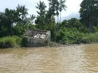 Correnteza do rio Amazonas ameaça 150 casas no Amapá