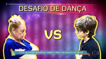 Xande valois e Suely Franco aceitam desafio de dança