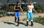 Valesca Popozuda desafia equilíbrio em aula de hopping (Luma Dantas)