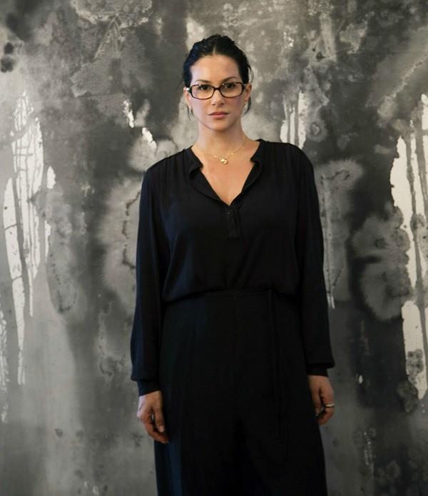 """Obras abstratas de Paula Klien, segundo a artista, """"refletem  (Foto: Pedro França)"""