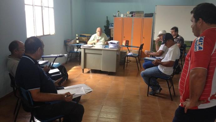 Reunião sede da FRF para definir o Roraimão 2017 (Foto: Ivonisio Júnior)