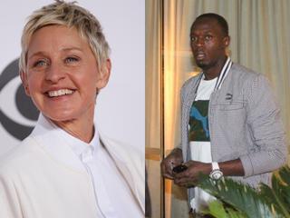 Ellen DeGeneres e Usain Bolt (Foto: Reuters | Rodrigo dos Anjos/ AG. News)