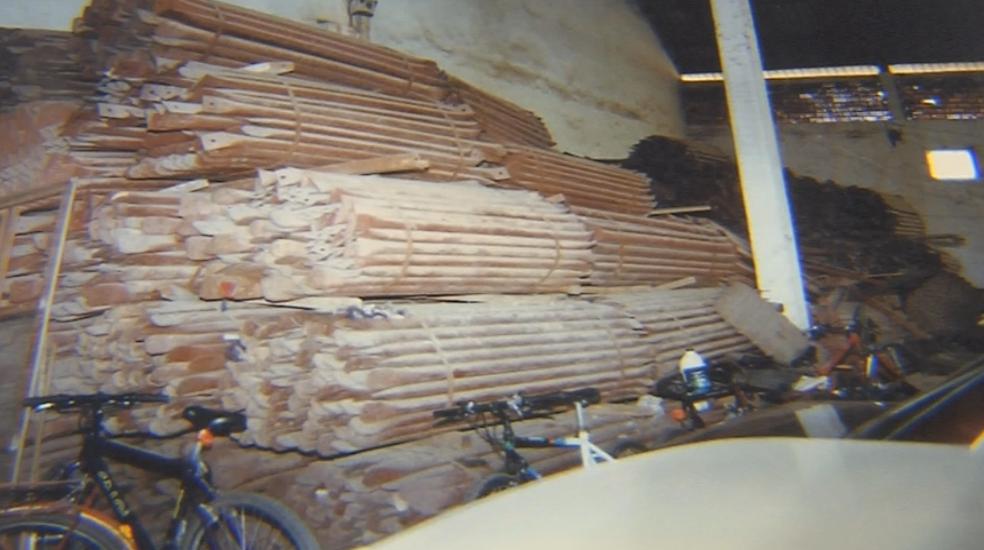 Estrutura que seria usada na rodoviária de Marília desapareceu (Foto: Reprodução/TV TEM)