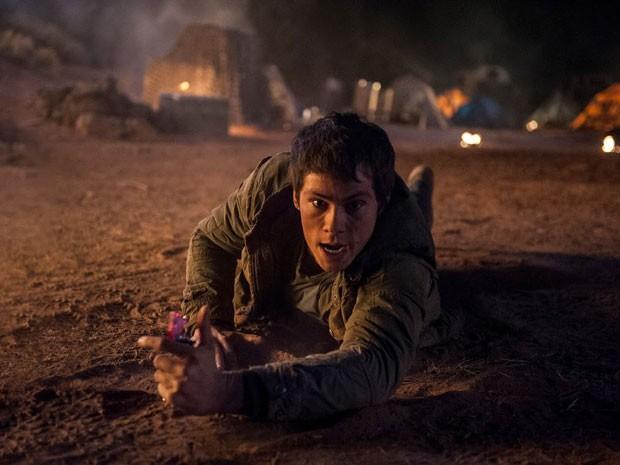Dylan O'Brien é Thomas em cena de 'Maza Runner: Prova de fogo' (Foto: Divulgação)