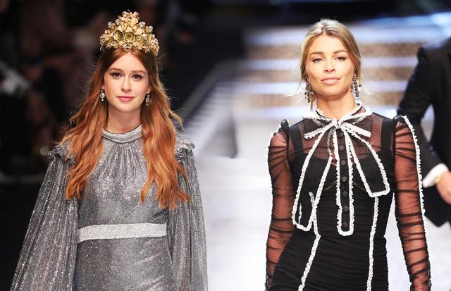 Marina Ruy Barbosa e Grazi Massfera na Dolce & Gabbana (Foto: Antonio Barros)