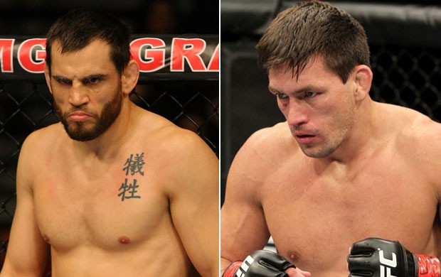 Demian Maia e Jon Fitch (Foto: Editoria de Arte/Globoesporte.com)