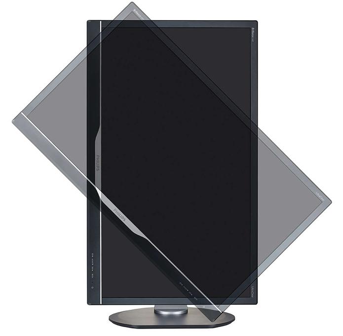 Base permite que monitor seja utilizado na vertical (Foto: Divulgação/Philips)