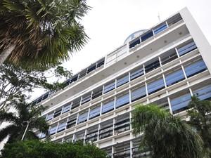 A própria sede da Prefeitura de Cuiabá, o Palácio Alencastro, também pode ser considerada uma construção da fase modernista. (Foto: Renê Dióz/G1)