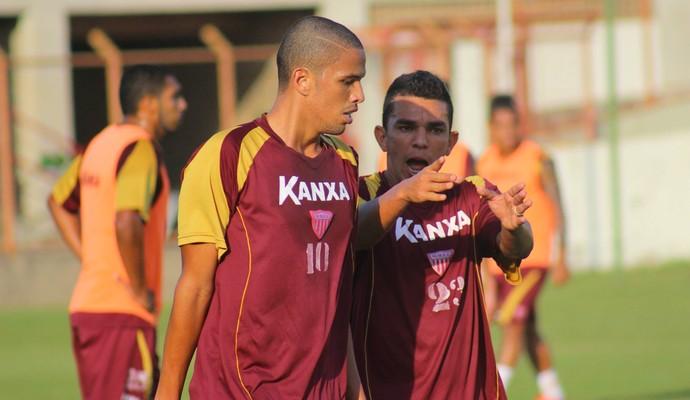 Edson Ratinho e Rivaldinho elenco Mogi Mirim (Foto: Geraldo Bertanha / Mogi Mirim)
