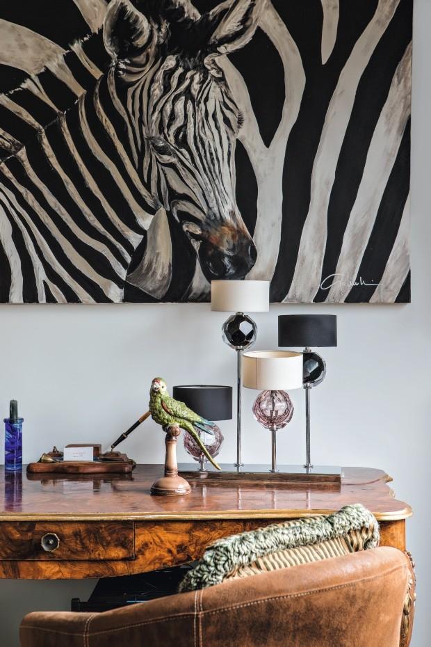 Dinho Diniz tem a casa cheia de bichos (Foto: Lufe Gomes)