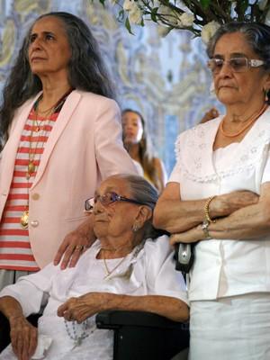 Bethgãnia, dona Canô e Maria Clara Veloso. (Foto: Egi Santana/G1)