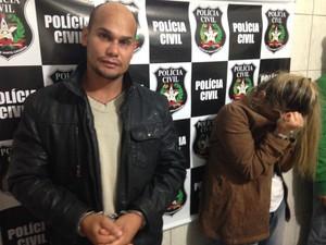 Peterson e Rosicleide foram presos na terça-feira (3) (Foto: Larissa Vier/RBS TV)
