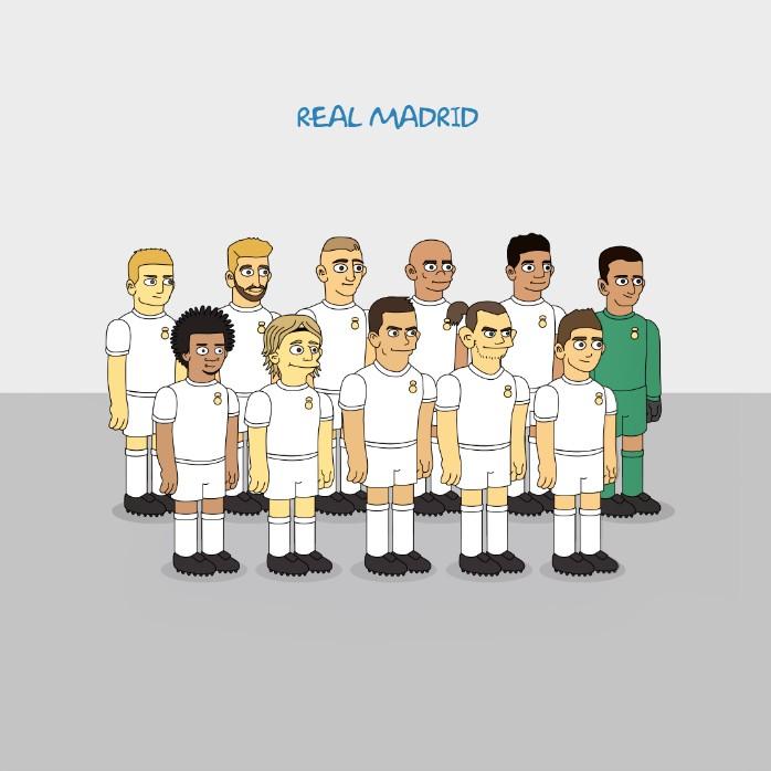 Real Madrid Simpsons