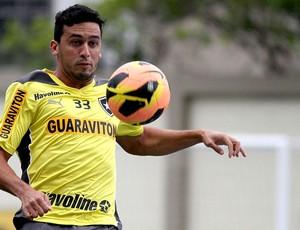 Edilson treino Botafogo (Foto: Vitor Silva / SSPress)