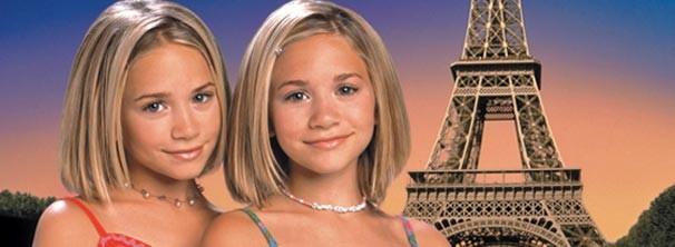 Ashley Olsen e Mary-Kate Olsen em 'Passaporte para Paris' (Foto: Divulgação / Reprodução)